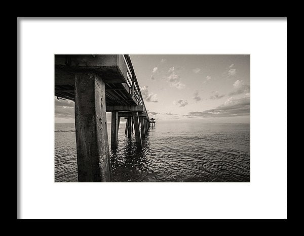 Underside of Pier - Framed Print from Wallasso - The Wall Art Superstore
