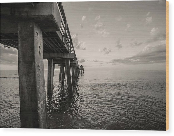 Underside of Pier - Wood Print from Wallasso - The Wall Art Superstore
