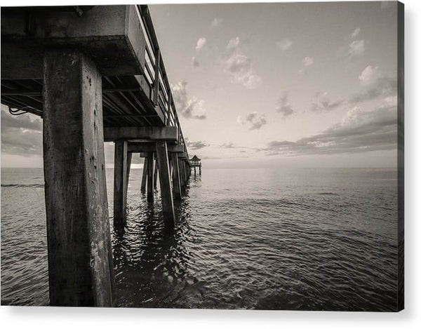 Underside of Pier - Acrylic Print from Wallasso - The Wall Art Superstore
