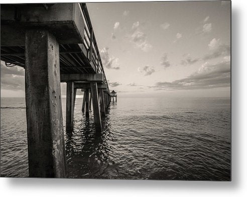 Underside of Pier - Metal Print from Wallasso - The Wall Art Superstore