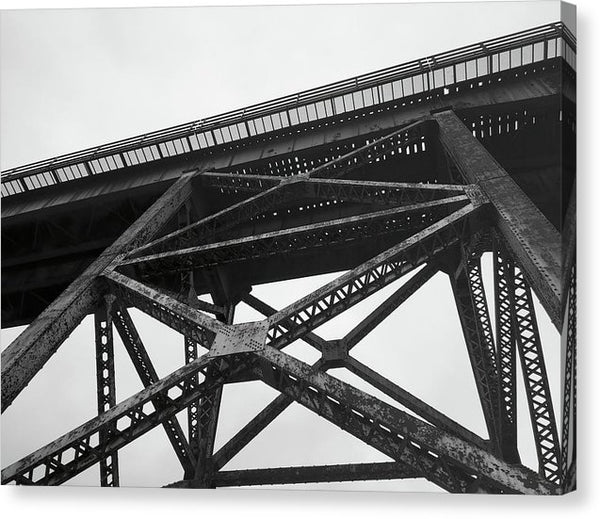 Underside of Railroad Bridge - Canvas Print from Wallasso - The Wall Art Superstore