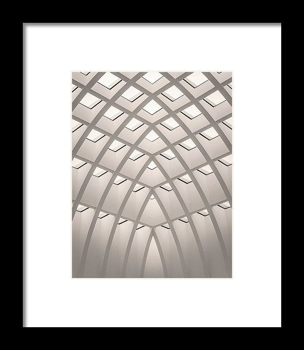 Unique Architectural Roof - Framed Print from Wallasso - The Wall Art Superstore