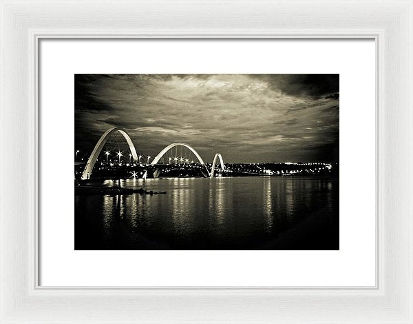 Unique Arch Bridge Reflected In Water - Framed Print from Wallasso - The Wall Art Superstore