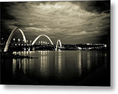 Unique Arch Bridge Reflected In Water - Metal Print from Wallasso - The Wall Art Superstore