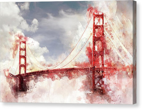 Unique Golden Gate Bridge Painting - Canvas Print from Wallasso - The Wall Art Superstore