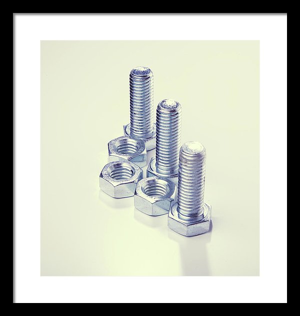 Unique Nuts and Bolts - Framed Print from Wallasso - The Wall Art Superstore