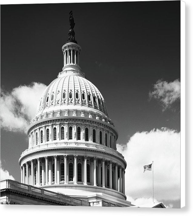 United States Capitol Building Dome Washington D C Canvas Print Wallasso The Wall Art Superstore