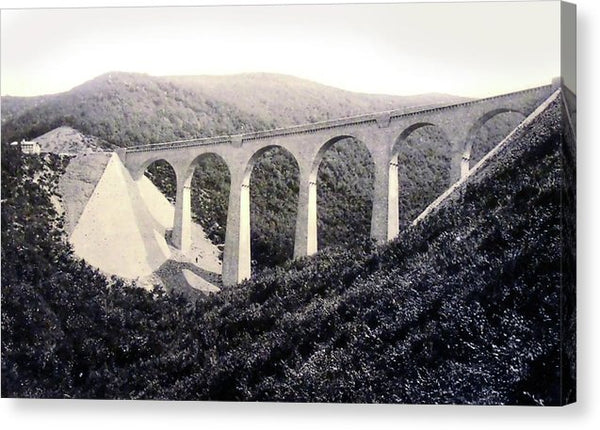 Viaduct Bridge In Hubertus Canyon, Germany - Canvas Print from Wallasso - The Wall Art Superstore