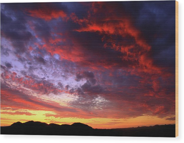 Vibrant Arizona Sunset - Wood Print from Wallasso - The Wall Art Superstore