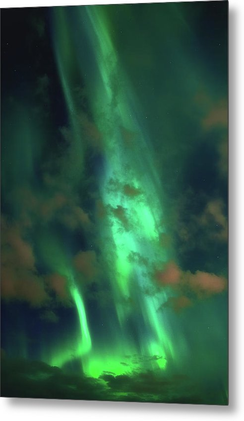 Vibrant Green Aurora Borealis - Metal Print from Wallasso - The Wall Art Superstore