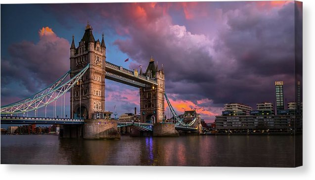Vibrant Tower Bridge Panoramic - Canvas Print from Wallasso - The Wall Art Superstore
