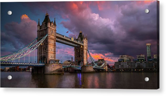 Vibrant Tower Bridge Panoramic - Acrylic Print from Wallasso - The Wall Art Superstore