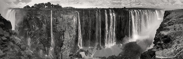 Victoria Falls Waterfall In Africa, Panorama - Art Print from Wallasso - The Wall Art Superstore