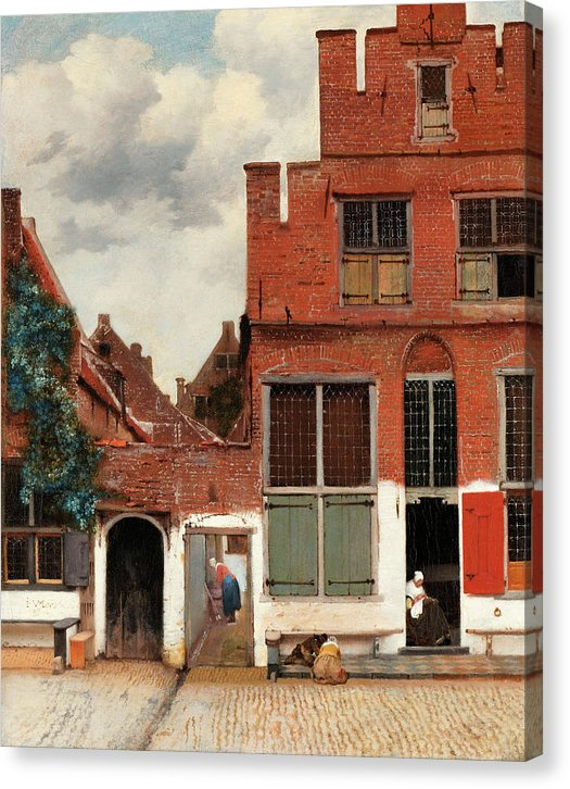 The Little Street by Johannes Vermeer, 1658 - Canvas Print from Wallasso - The Wall Art Superstore