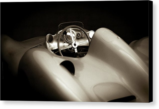 Vintage 1955 Mercedes-benz W 196 R Sports Car - Canvas Print from Wallasso - The Wall Art Superstore