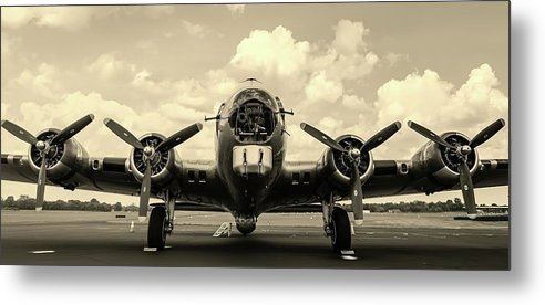 Vintage Airplane With Four Propellers - Metal Print from Wallasso - The Wall Art Superstore