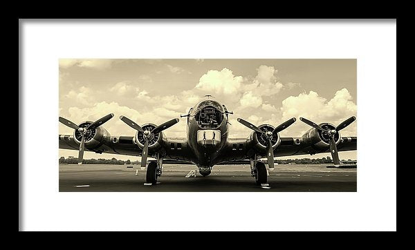 Vintage Airplane With Four Propellers - Framed Print from Wallasso - The Wall Art Superstore