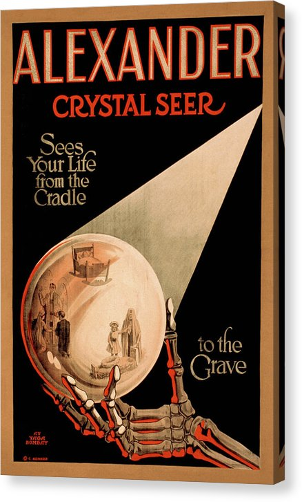 Vintage Alexander Crystal Seer Magician Poster, 1910 - Canvas Print from Wallasso - The Wall Art Superstore