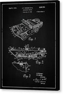 Vintage Amphibious Vehicle Patent, 1946 - Canvas Print from Wallasso - The Wall Art Superstore