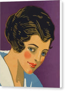 Vintage Art Deco Woman - Canvas Print from Wallasso - The Wall Art Superstore