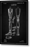 Vintage Artificial Leg Patent, 1864 - Metal Print from Wallasso - The Wall Art Superstore