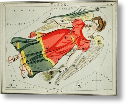 Vintage Astronomy Chart of Virgo Constellation - Metal Print from Wallasso - The Wall Art Superstore