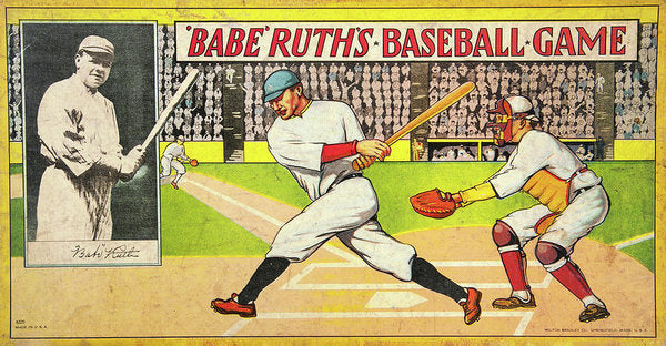 Vintage Babe Ruth Baseball Board Game - Art Print from Wallasso - The Wall Art Superstore