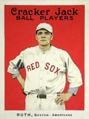 Vintage Babe Ruth Cracker Jack Poster - Art Print from Wallasso - The Wall Art Superstore