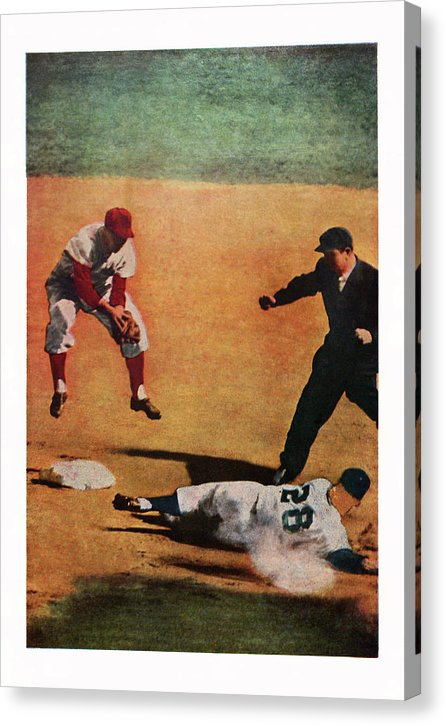 Vintage Baseball Painting - Canvas Print from Wallasso - The Wall Art Superstore