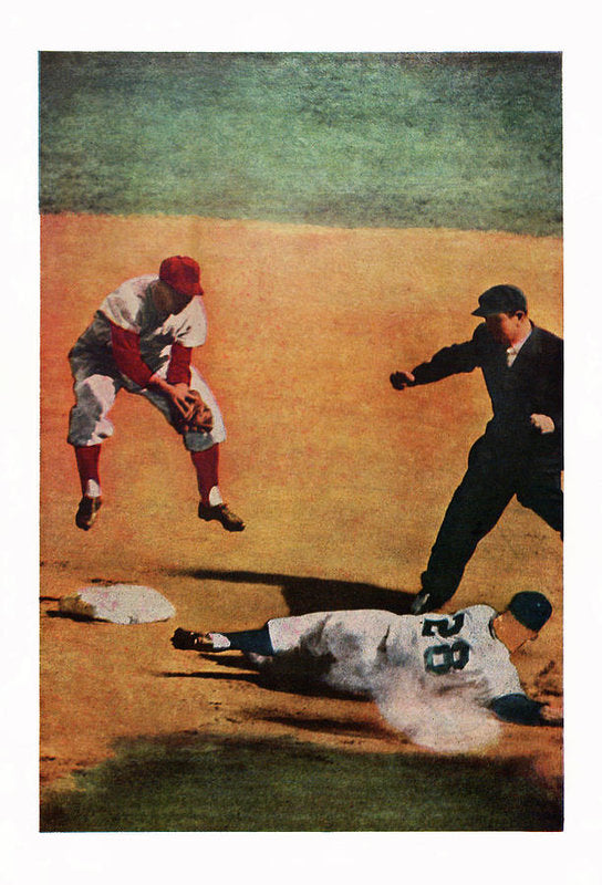 Vintage Baseball Painting - Art Print from Wallasso - The Wall Art Superstore