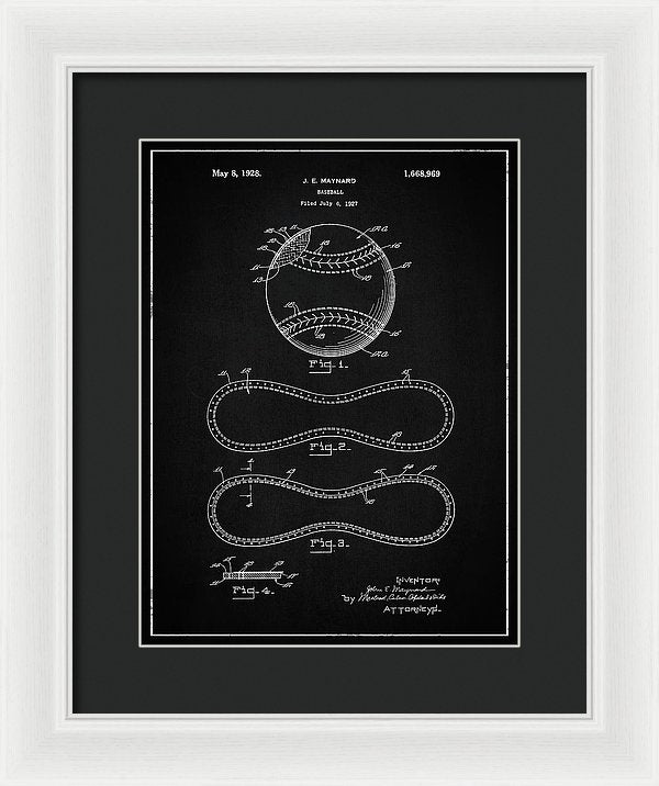 Vintage Baseball Patent, 1928 - Framed Print from Wallasso - The Wall Art Superstore