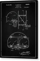 Vintage Basketball Goal Patent, 1944 - Acrylic Print from Wallasso - The Wall Art Superstore