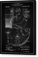 Vintage Bass Drum and Cymbal Patent, 1909 - Acrylic Print from Wallasso - The Wall Art Superstore