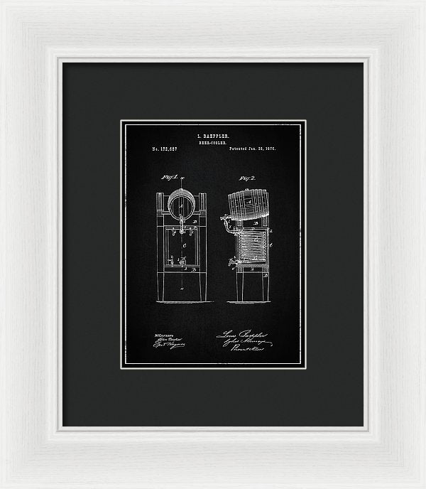 Vintage Beer Cooler Patent, 1876 - Framed Print from Wallasso - The Wall Art Superstore