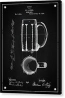 Vintage Beer Mug Patent, 1876 - Acrylic Print from Wallasso - The Wall Art Superstore