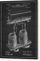 Vintage Beer Tap Apparatus Patent, 1900 - Wood Print from Wallasso - The Wall Art Superstore