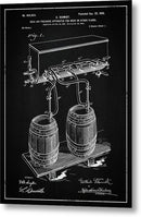 Vintage Beer Tap Apparatus Patent, 1900 - Metal Print from Wallasso - The Wall Art Superstore
