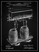 Vintage Beer Tap Apparatus Patent, 1900 - Art Print from Wallasso - The Wall Art Superstore