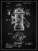Vintage Bicycle Lamp Patent, 1900 - Art Print from Wallasso - The Wall Art Superstore
