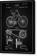 Vintage Bicycle Patent, 1890 - Canvas Print from Wallasso - The Wall Art Superstore