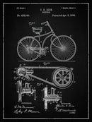 Vintage Bicycle Patent, 1890 - Art Print from Wallasso - The Wall Art Superstore