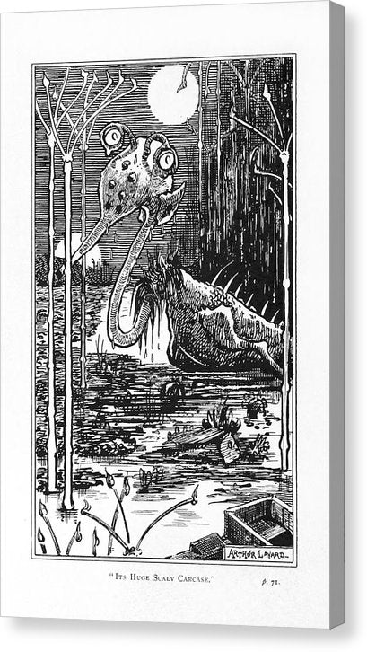 Vintage Book Illustration of Science Fiction Alien Creature, 1895 - Canvas Print from Wallasso - The Wall Art Superstore