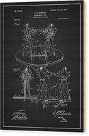 Vintage Boxing Toy Patent, 1899 - Wood Print from Wallasso - The Wall Art Superstore