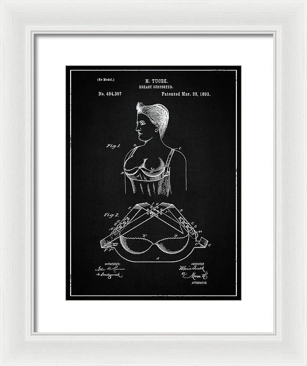 Vintage Bra Patent, 1893 - Framed Print from Wallasso - The Wall Art Superstore