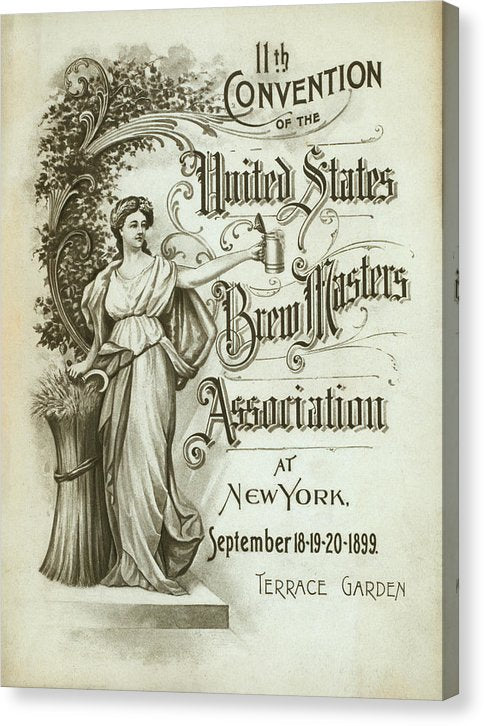 Vintage Brewmasters Convention Poster, 1899 - Canvas Print from Wallasso - The Wall Art Superstore