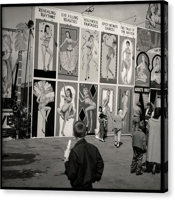 Vintage Burlesque Show - Canvas Print from Wallasso - The Wall Art Superstore