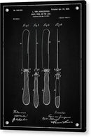 Vintage Butter Knife Patent, 1900 - Acrylic Print from Wallasso - The Wall Art Superstore