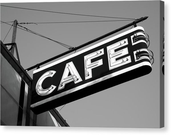 Vintage Cafe Sign - Canvas Print from Wallasso - The Wall Art Superstore