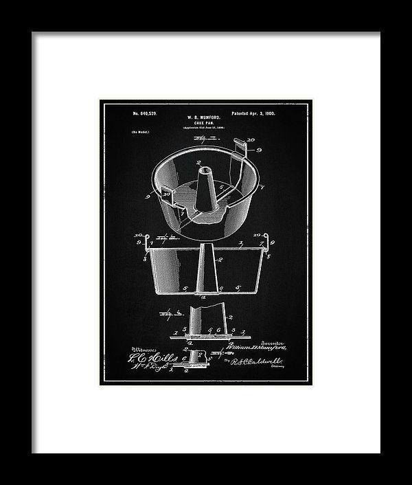 Vintage Cake Pan Patent, 1900 - Framed Print from Wallasso - The Wall Art Superstore