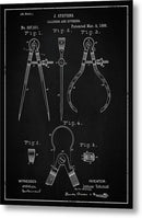 Vintage Calipers Patent, 1886 - Metal Print from Wallasso - The Wall Art Superstore